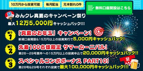 みんなのクレジットで2万円貰えるキャンペーン