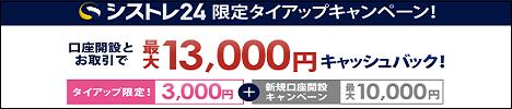 シストレ24タイアップ特典13,000円