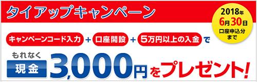 岡三オンライン証券タイアップ6月