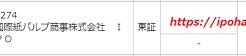 国際紙パルプ商事(9274)IPOが500株当選