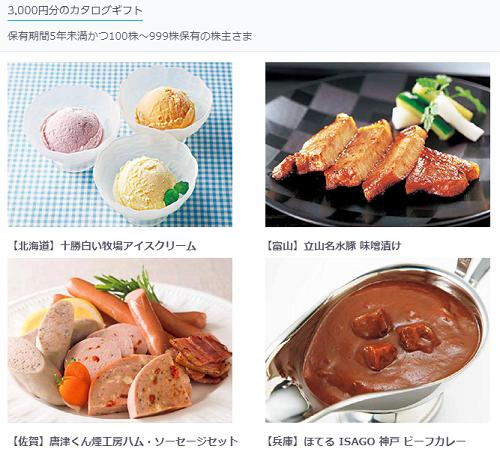 KDDI3000円株主優待カタログ