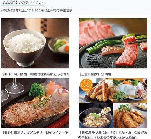 KDDI株主優待カタログ画像