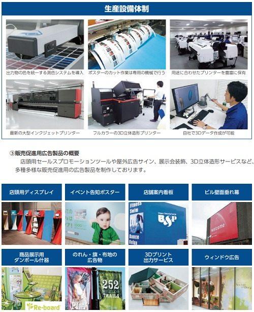 ビーアンドピー(B&P)の生産設備と販売促進用広告の種類