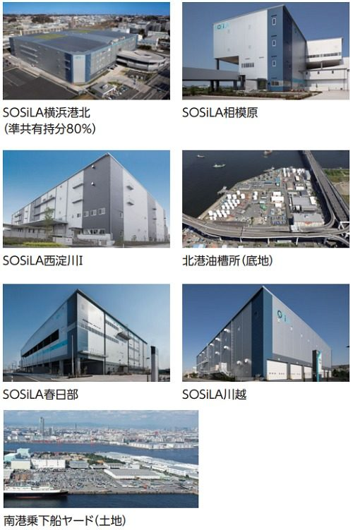 SOSiLA物流リート投資法人が取得を予定している物件