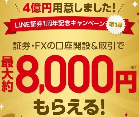 LINE証券1周年記念キャンペーン