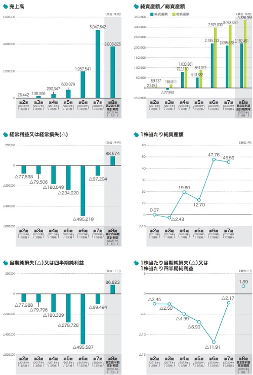 セーフィー(4375)IPOの業績